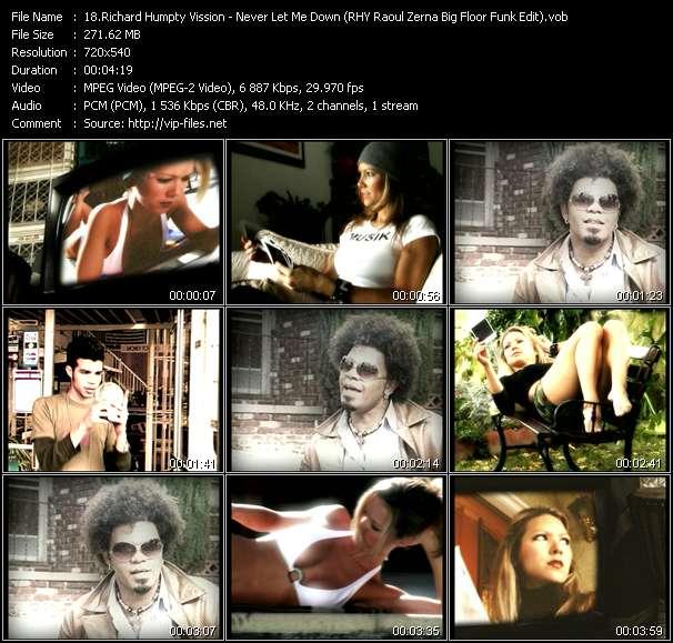 Screenshot of Music Video Richard Humpty Vission - Never Let Me Down (RHY Raoul Zerna Big Floor Funk Edit)