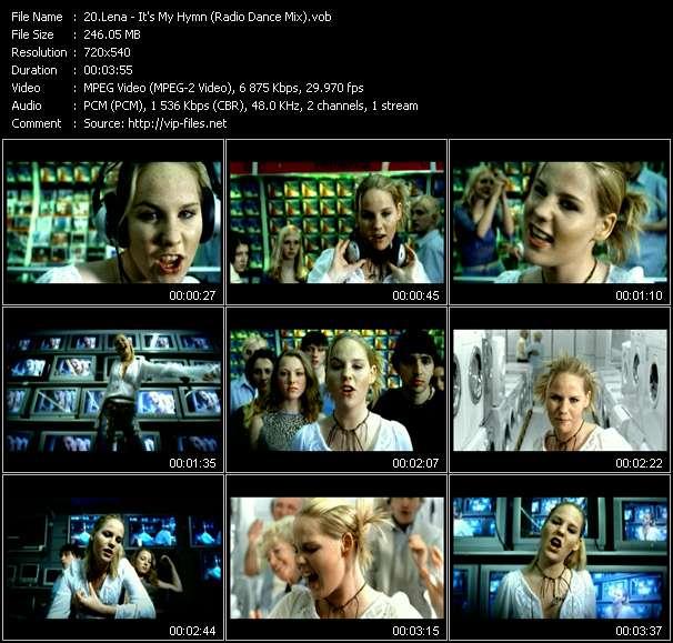 Screenshot of Music Video Lena - It's My Hymn (Radio Dance Mix)