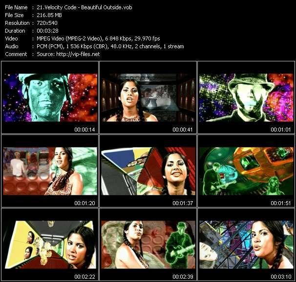 Screenshot of Music Video Velocity Code - Beautiful Outside