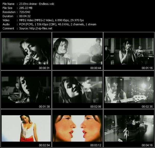 Screenshot of Music Video Etro Anime - Endless
