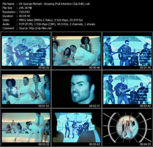 Screenshot of Music Video George Michael - Amazing (Full Intention Club Edit)