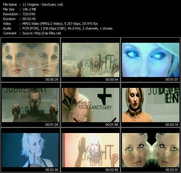 Screenshot of Music Video Origene - Sanctuary