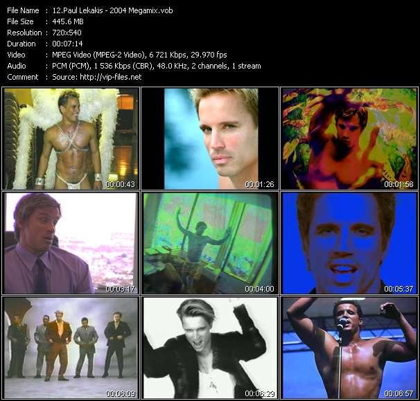 Screenshot of Music Video Paul Lekakis - 2004 Megamix