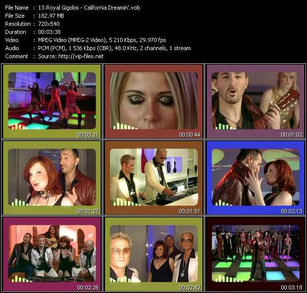 Screenshot of Music Video Royal Gigolos - California Dreamin'