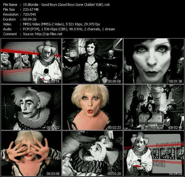 Screenshot of Music Video Blondie - Good Boys (Good Boys Gone Clubbin' Edit)