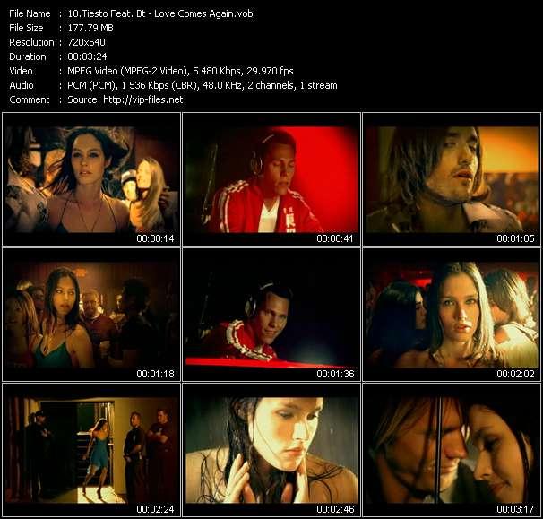 Screenshot of Music Video Tiesto Feat. Bt - Love Comes Again