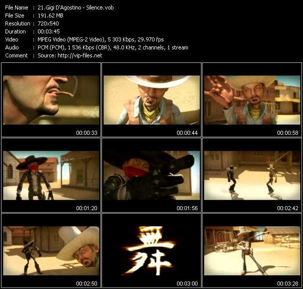 Screenshot of Music Video Gigi D'Agostino - Silence