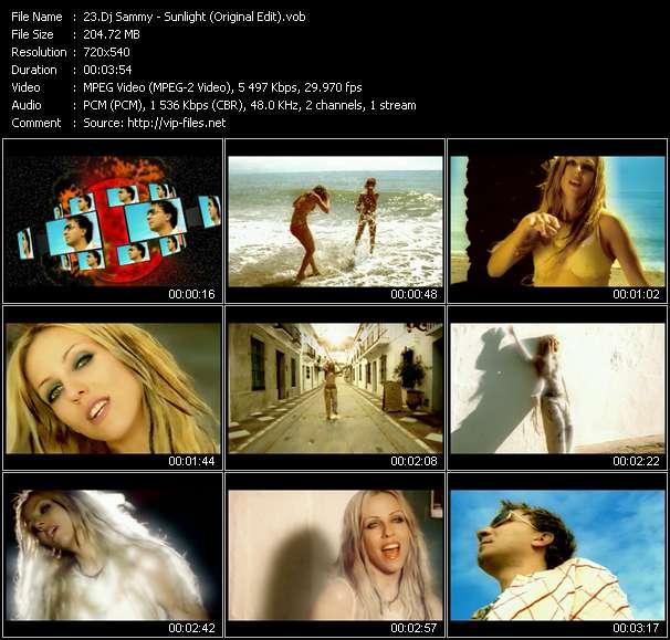 Screenshot of Music Video Dj Sammy - Sunlight (Original Edit)