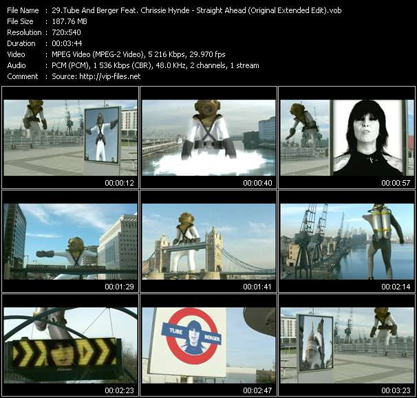 Tube And Berger Feat. Chrissie Hynde clips musicaux vob