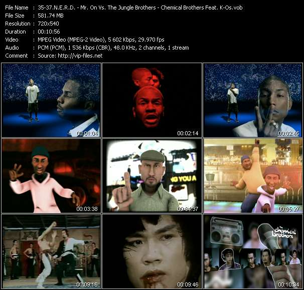 Screenshot of Music Video N.E.R.D. - Mr. On Vs. The Jungle Brothers - Chemical Brothers Feat. K-Os - She Wants To Move (Basement Jaxx Mix) - Breathe, Don't Stop (Milk And Sugar Remix) - Get Yourself High (Felix Da Housecat's Chemical Meltdown Edit)