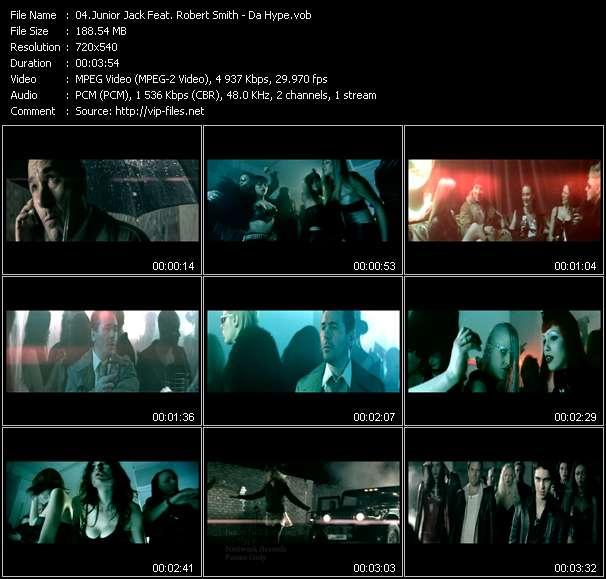 Screenshot of Music Video Junior Jack Feat. Robert Smith - Da Hype