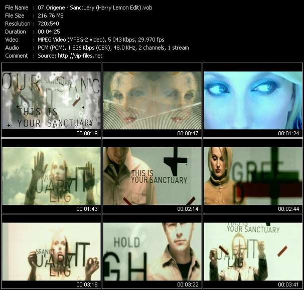 Screenshot of Music Video Origene - Sanctuary (Harry Lemon Edit)