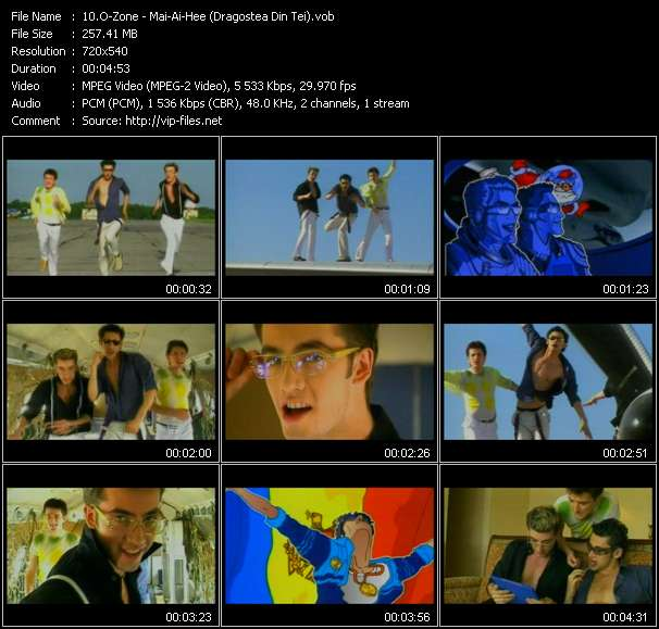 Screenshot of Music Video O-Zone - Mai-Ai-Hee (Dragostea Din Tei)
