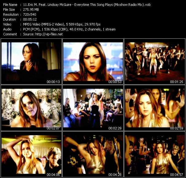 Eric M. Feat. Lindsay McGuire clips musicaux vob