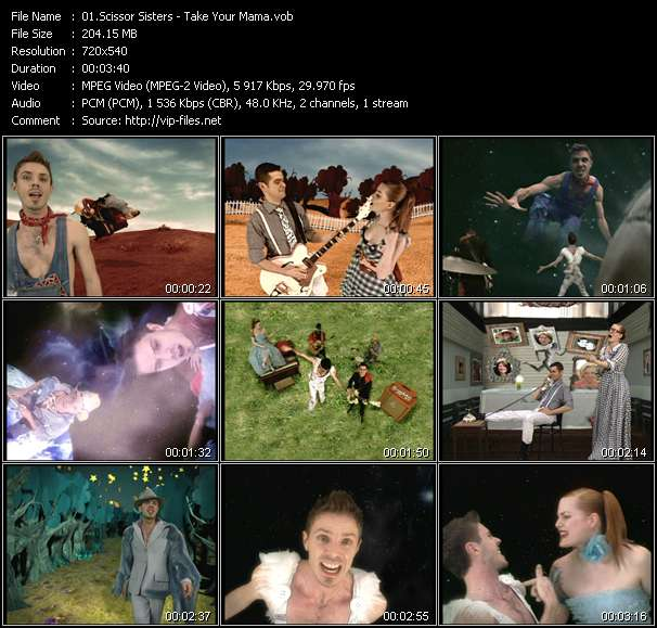 Scissor Sisters video vob