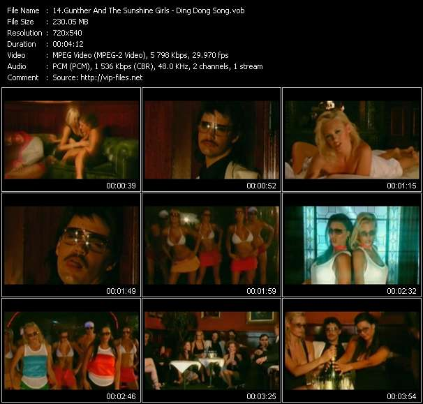 Gunther And The Sunshine Girls video vob