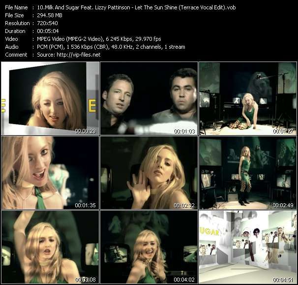 Milk And Sugar Feat. Lizzy Pattinson видеоклип vob