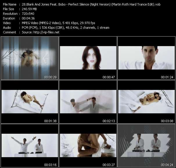Blank And Jones Feat. Bobo clips musicaux vob