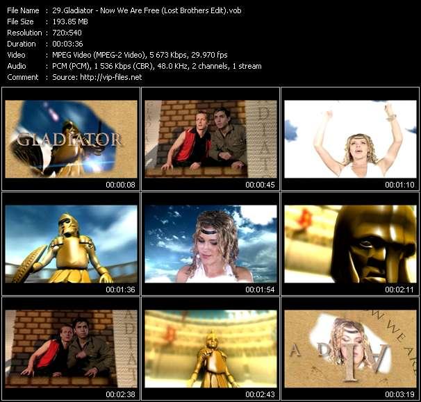 Gladiator clips musicaux vob