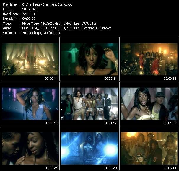Screenshot of Music Video Mis-Teeq - One Night Stand