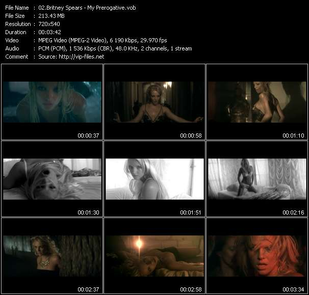 Screenshot of Music Video Britney Spears - My Prerogative
