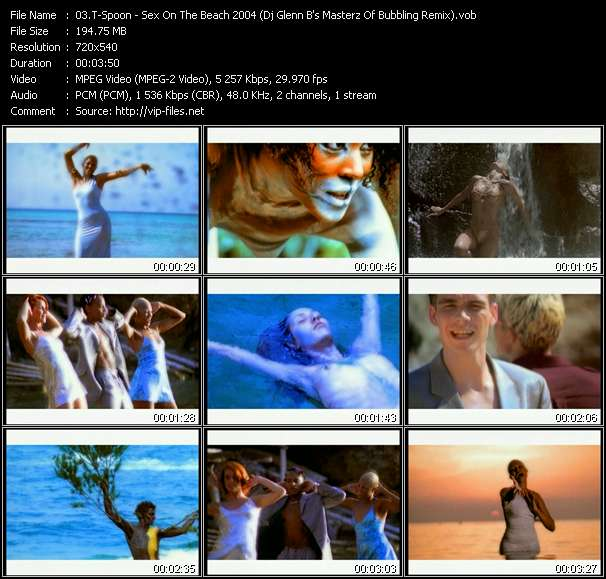Screenshot of Music Video T-Spoon - Sex On The Beach 2004 (Dj Glenn B's Masterz Of Bubbling Remix)