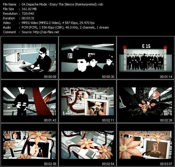 Screenshot of Music Video Depeche Mode - Enjoy The Silence (Reinterpreted)