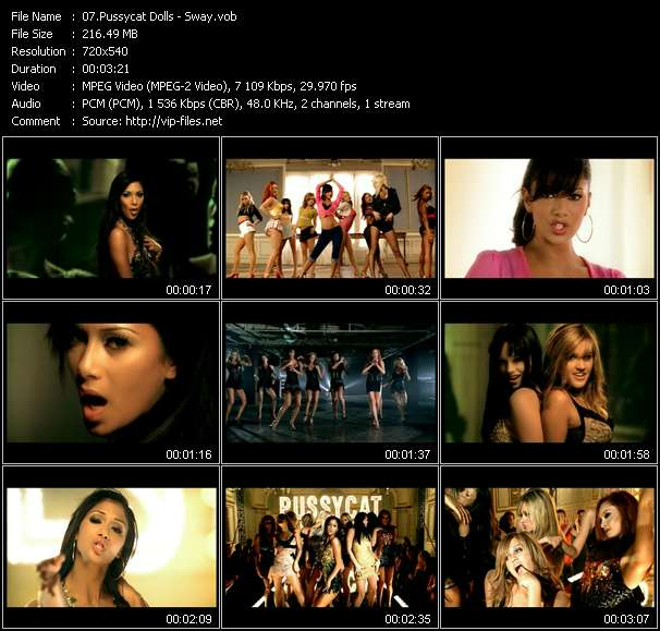 Screenshot of Music Video Pussycat Dolls - Sway