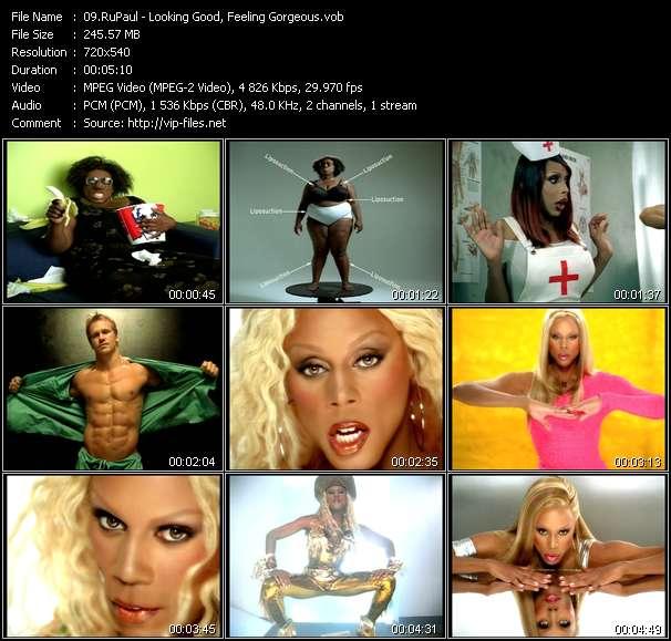 Screenshot of Music Video RuPaul - Looking Good, Feeling Gorgeous
