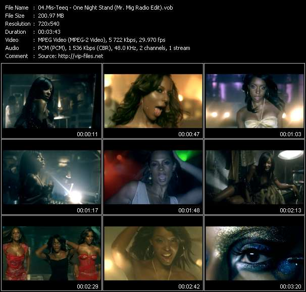 Screenshot of Music Video Mis-Teeq - One Night Stand (Mr. Mig Radio Edit)