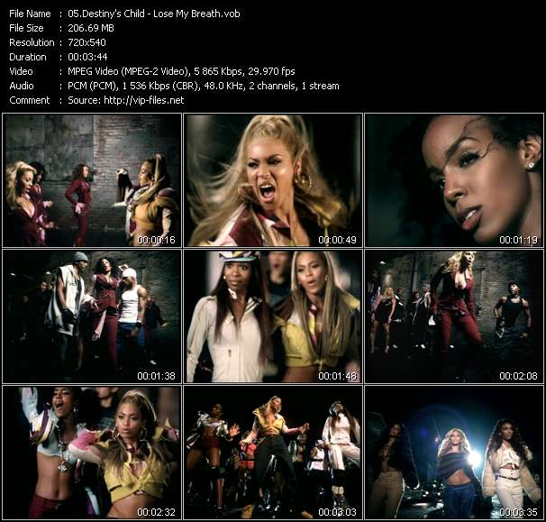 Screenshot of Music Video Destiny's Child - Lose My Breath