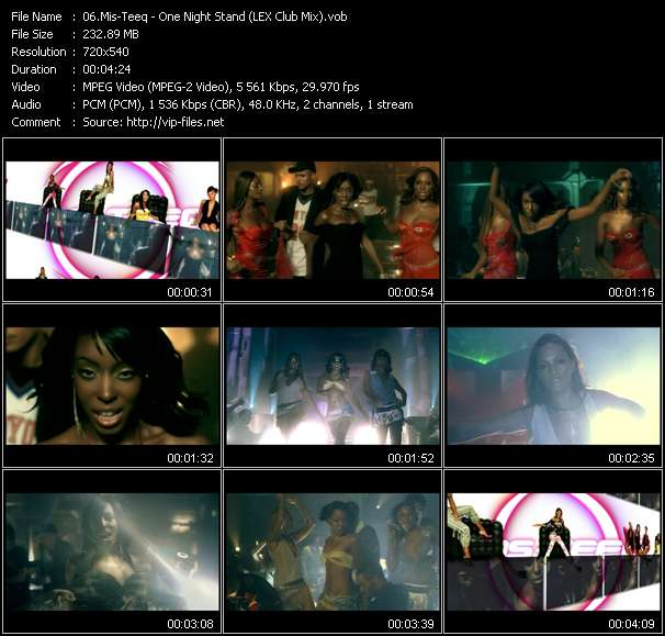 Screenshot of Music Video Mis-Teeq - One Night Stand (LEX Club Mix)