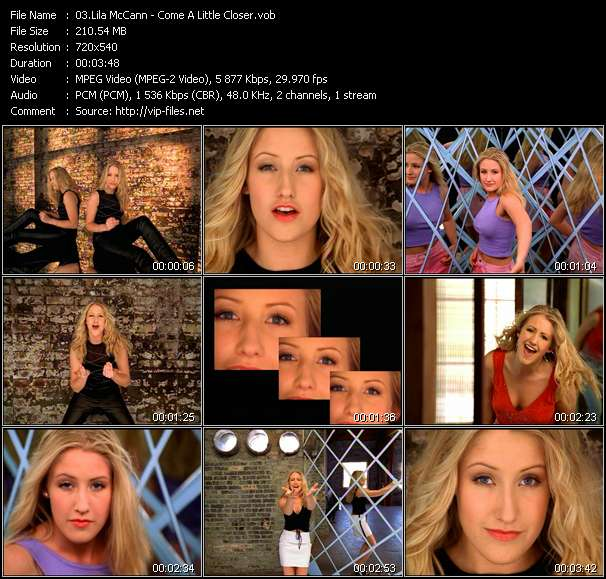 Screenshot of Music Video Lila McCann - Come A Little Closer