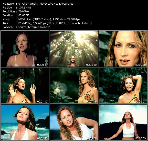 Screenshot of Music Video Chely Wright - Never Love You Enough