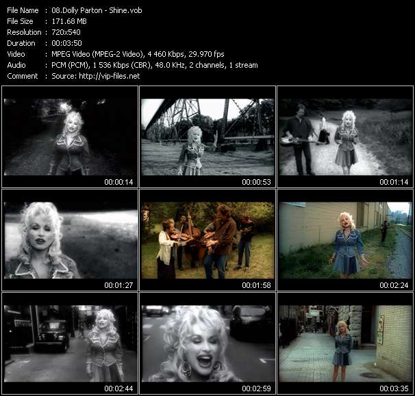 Screenshot of Music Video Dolly Parton - Shine