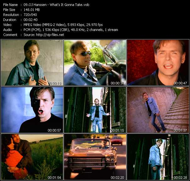 Screenshot of Music Video OJ Hanssen - What's It Gonna Take