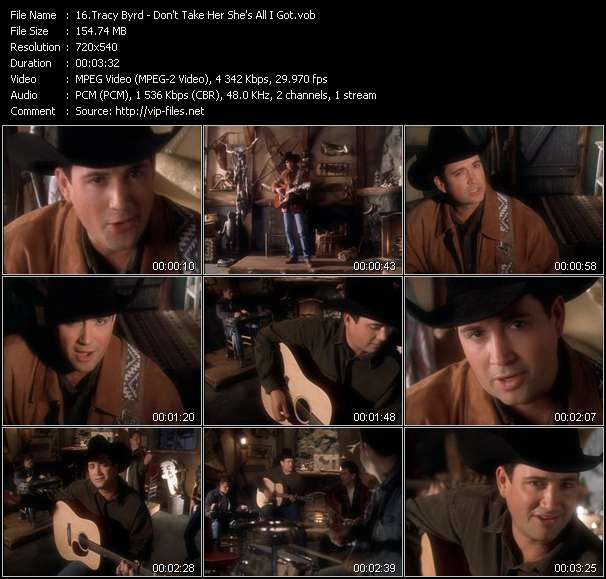 Tracy Byrd video vob
