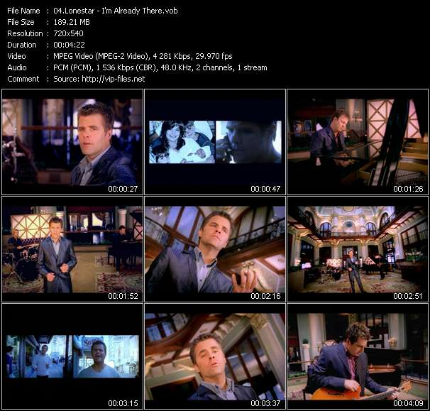 Screenshot of Music Video Lonestar - I'm Already There
