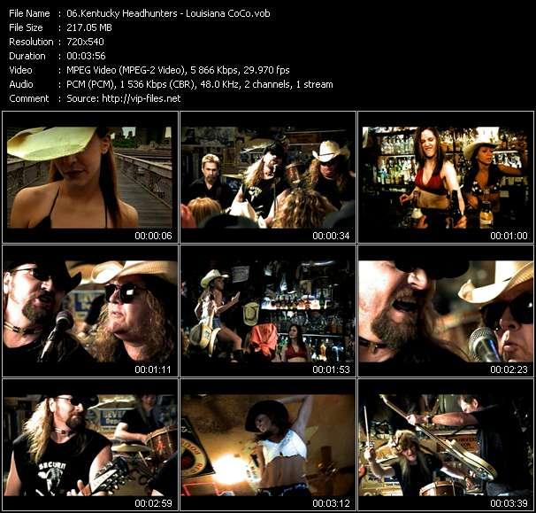 Screenshot of Music Video Kentucky Headhunters - Louisiana CoCo