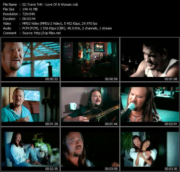 Screenshot of Music Video Travis Tritt - Love Of A Woman