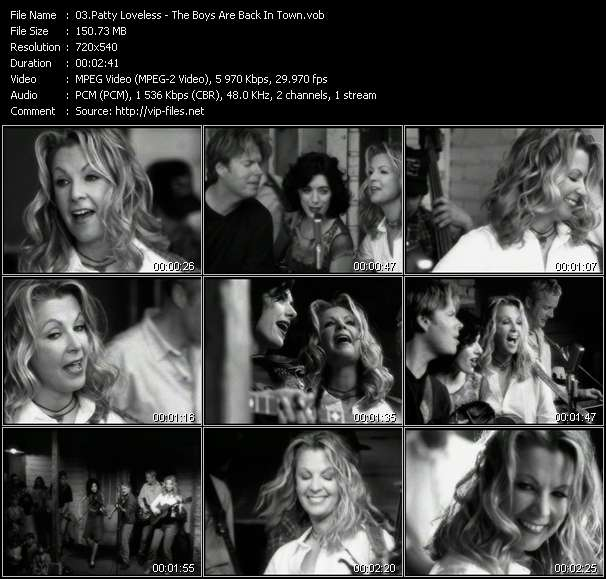 Screenshot of Music Video Patty Loveless - The Boys Are Back In Town