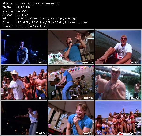 Screenshot of Music Video Phil Vassar - Six-Pack Summer