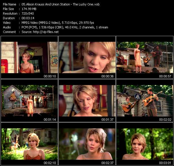 Screenshot of Music Video Alison Krauss And Union Station - The Lucky One