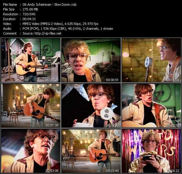 Screenshot of Music Video Andy Scheinman - Slow Down