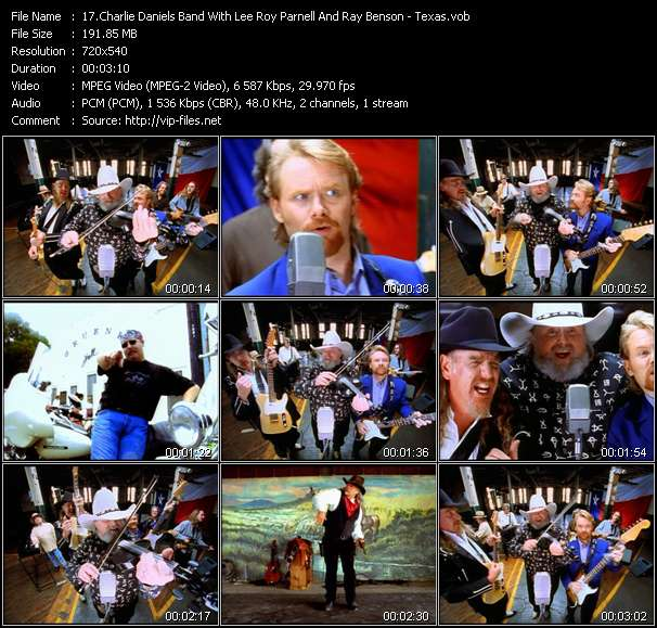 Charlie Daniels Band With Lee Roy Parnell And Ray Benson clips musicaux vob
