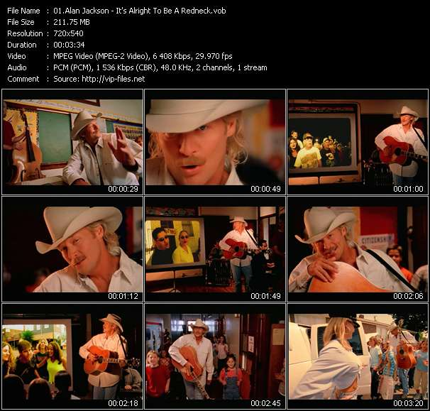 Screenshot of Music Video Alan Jackson - It's Alright To Be A Redneck