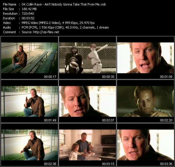 Screenshot of Music Video Collin Raye - Ain't Nobody Gonna Take That From Me