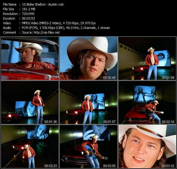 Screenshot of Music Video Blake Shelton - Austin