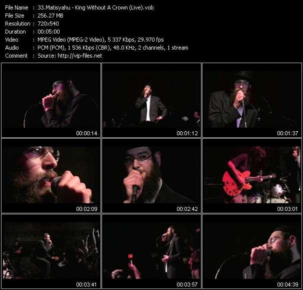 Screenshot of Music Video Matisyahu - King Without A Crown (Live)
