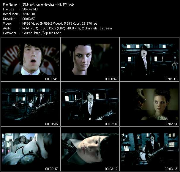 Screenshot of Music Video Hawthorne Heights - Niki FM